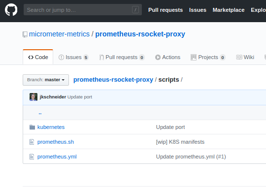 Prometheus Grafana and RSocket Proxy